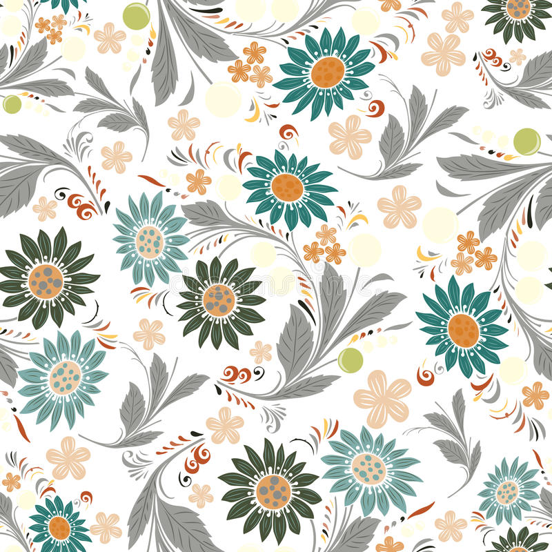 Seamless repeating floral pattern.Vector royalty free illustration