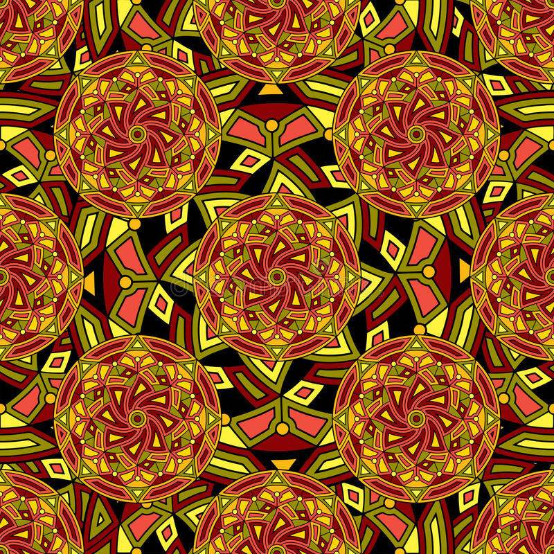 Free Seamless Repeating Pattern Consisting Of Colored Mandal Stock Image - 84933651