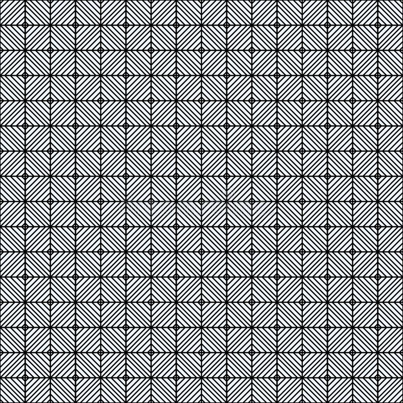 Seamless repeating pattern with lines tiling. Grungy freehand ink brush background texture. royalty free illustration