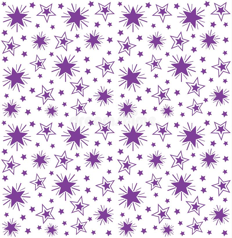 Seamless repeating pattern of stars royalty free illustration