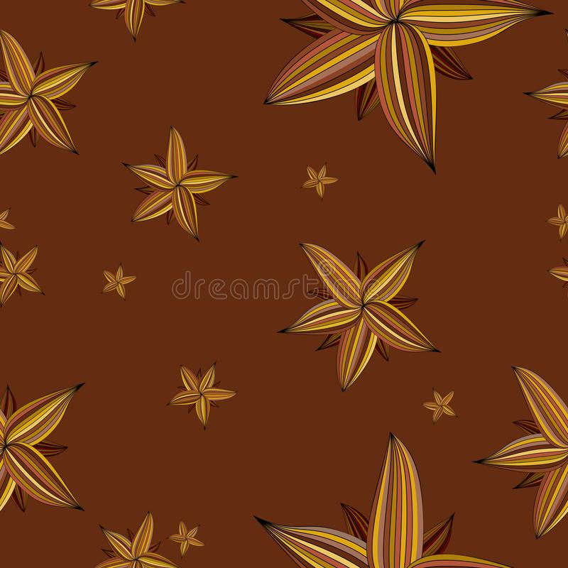 Seamless repeating spring floral pattern stock illustration