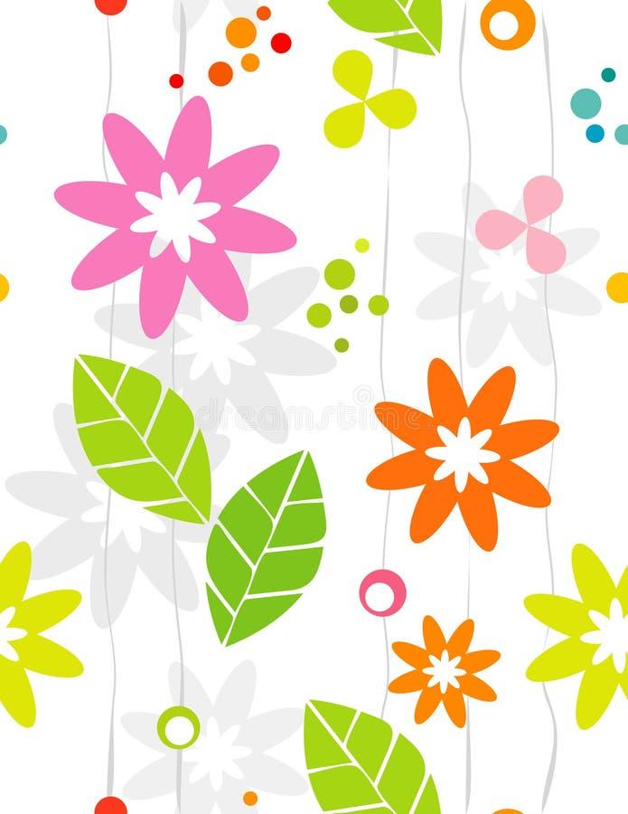 Seamless Retro Floral Backgrou stock illustration