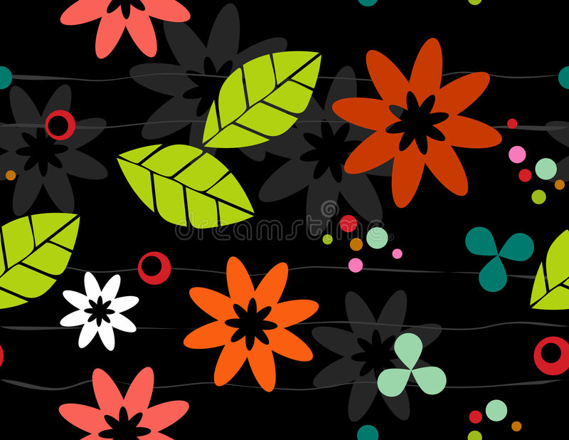 Download Seamless Retro Floral Bkgrd Stock Photo - Image: 3583640