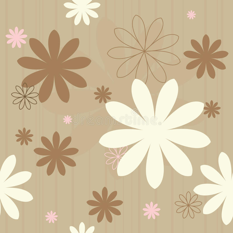 Download Seamless retro flowers stock vector. Image of floral, element - 9445623