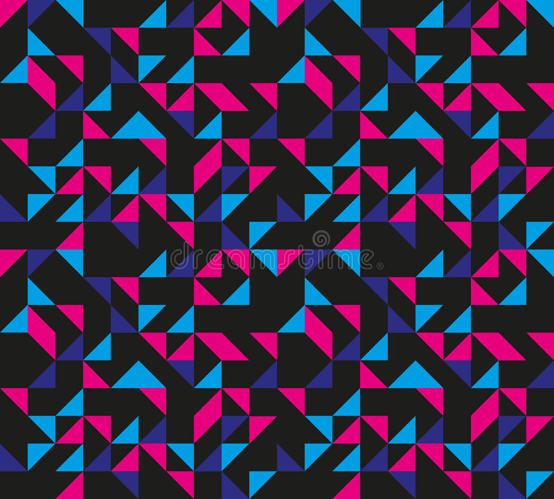 Download Seamless Retro Geometric Pattern Stock Vector - Image: 22149843