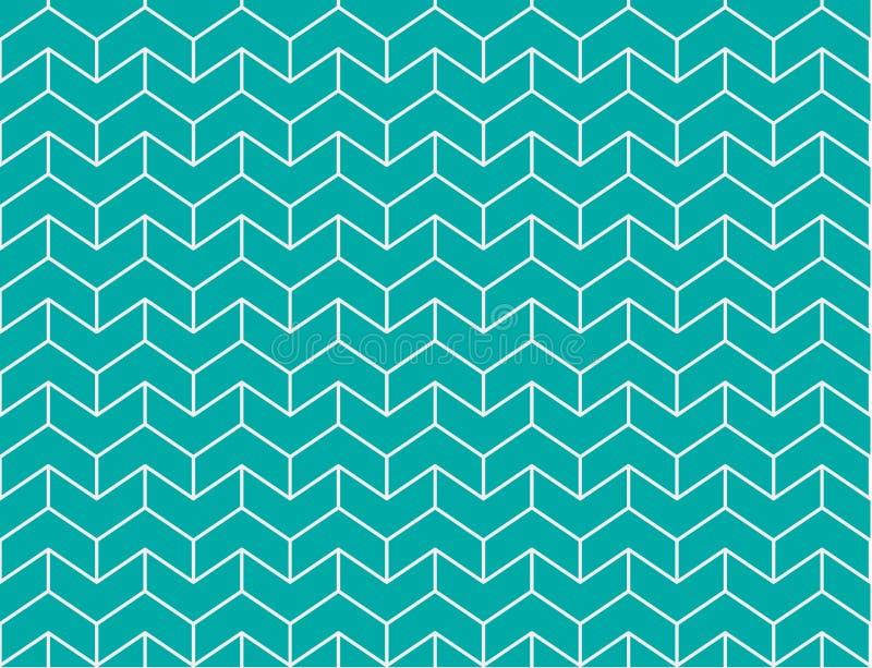 Seamless Retro geometrisk modell stock illustrationer