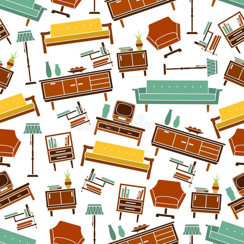 retro home furniture. Download Seamless Retro Home Furniture Pattern Background Stock Vector - Illustration Of Graphic, Design: E