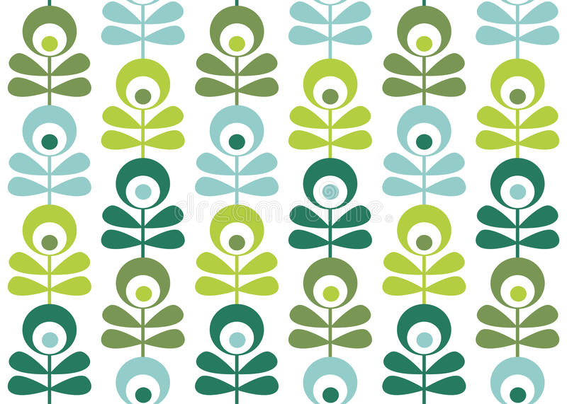 Download Seamless retro pattern stock vector. Illustration of series - 12897112