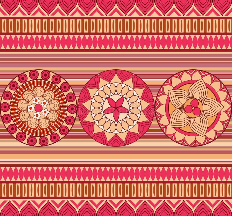 Seamless retro pattern stock photos