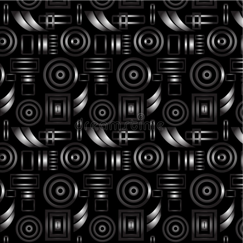 Seamless retro pattern stock illustration