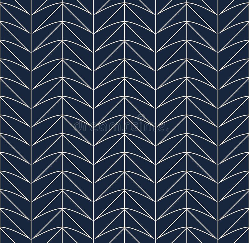 Seamless retro pattern with geometric shapes vector illustration
