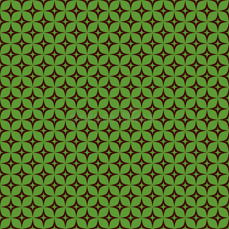 Seamless retro pattern green and brown royalty free stock images