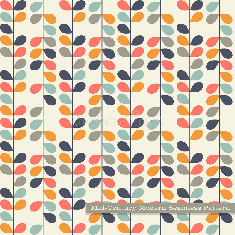 Download Seamless Retro Pattern In Mid Century Modern Style Stock Vector