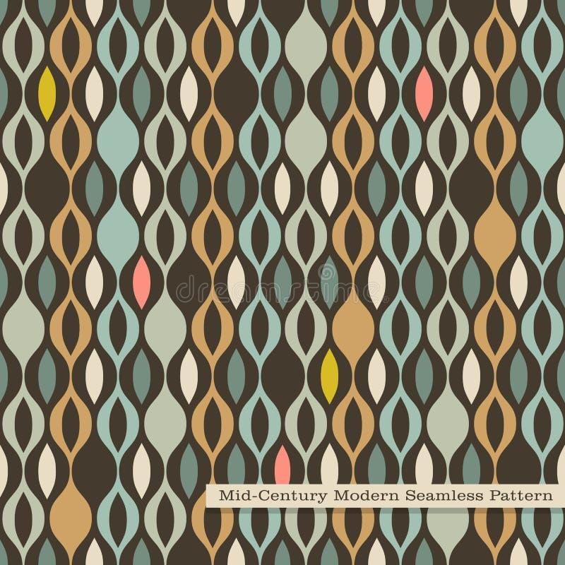 Seamless retro pattern in mid century modern style royalty free illustration