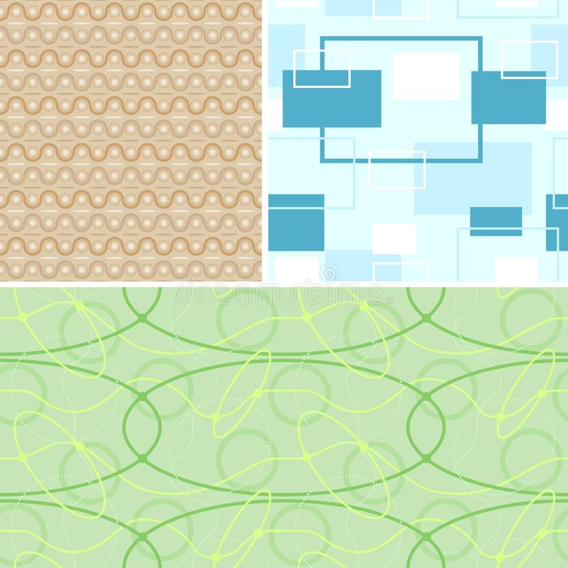 Download Seamless Retro Patterns stock vector. Image of computer - 26174679