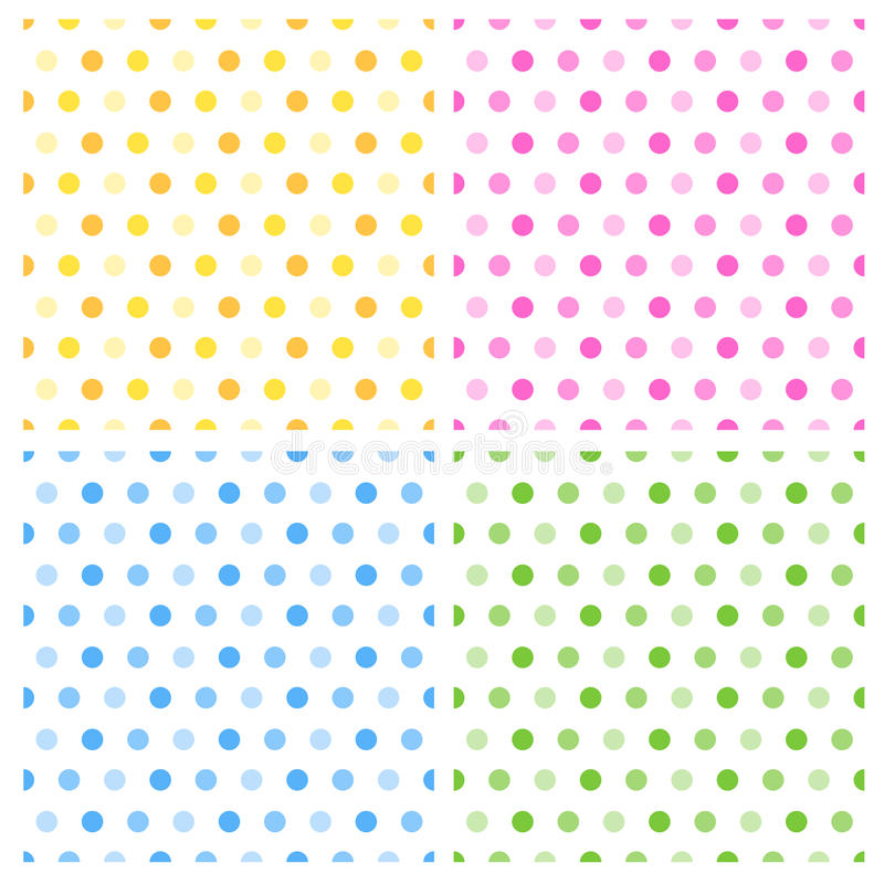 Download Seamless retro polka dots stock vector. Illustration of card - 17179325