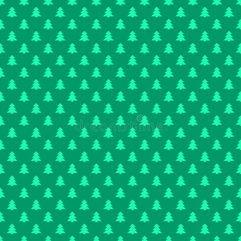Free Seamless Retro Style Stylized Christmas Tree Pattern Background Royalty Free Stock Images - 113895299