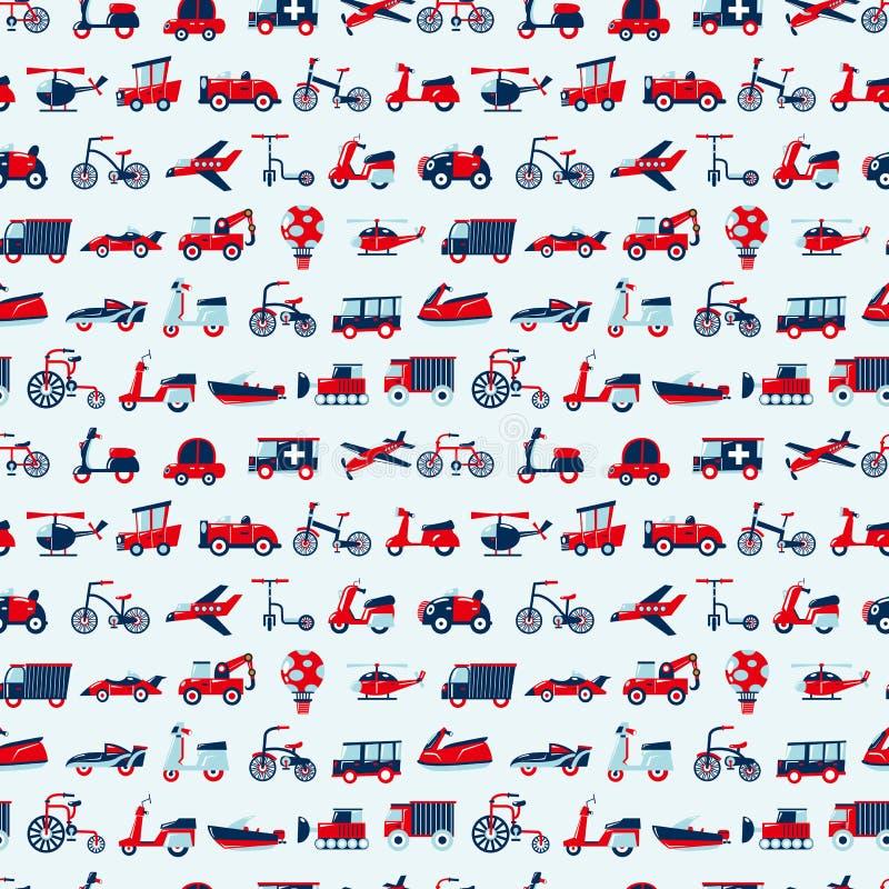 Free Seamless Retro Transport Pattern Stock Image - 29530881