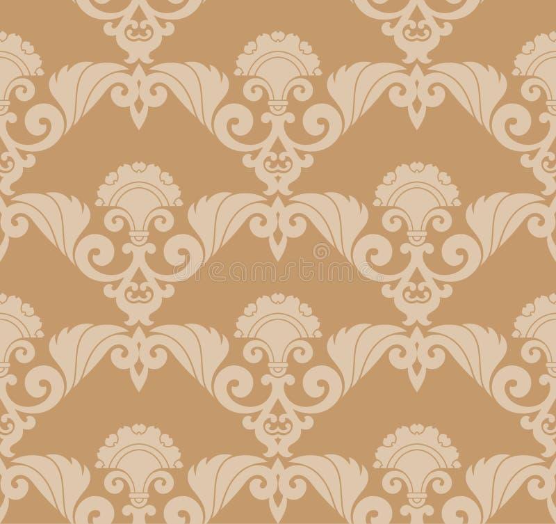 Seamless Retro Wallpaper Royalty Free Stock Image