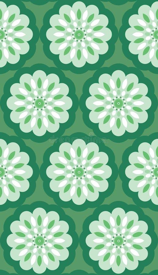 Seamless Retro Wallpaper Pattern vector illustration