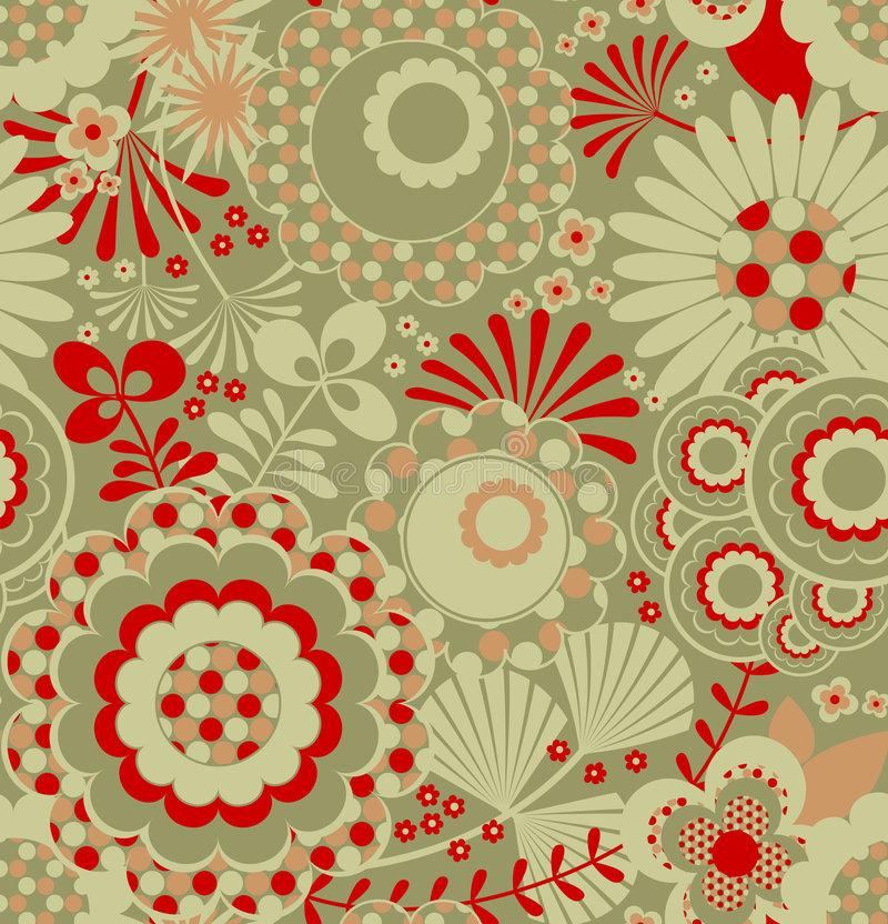 Seamless retro wallpaper pattern royalty free illustration