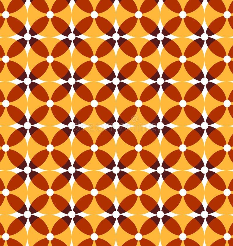 Seamless retro yellow pattern. royalty free illustration