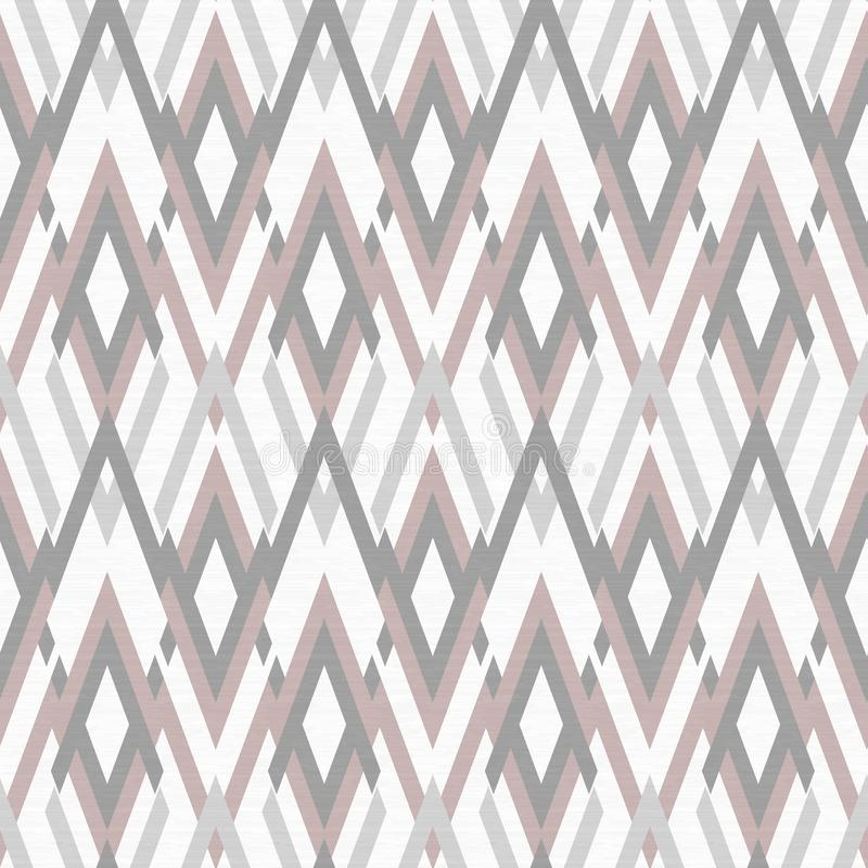 Seamless rhombic ethnic pattern, light background. background. Colorful background stock illustration