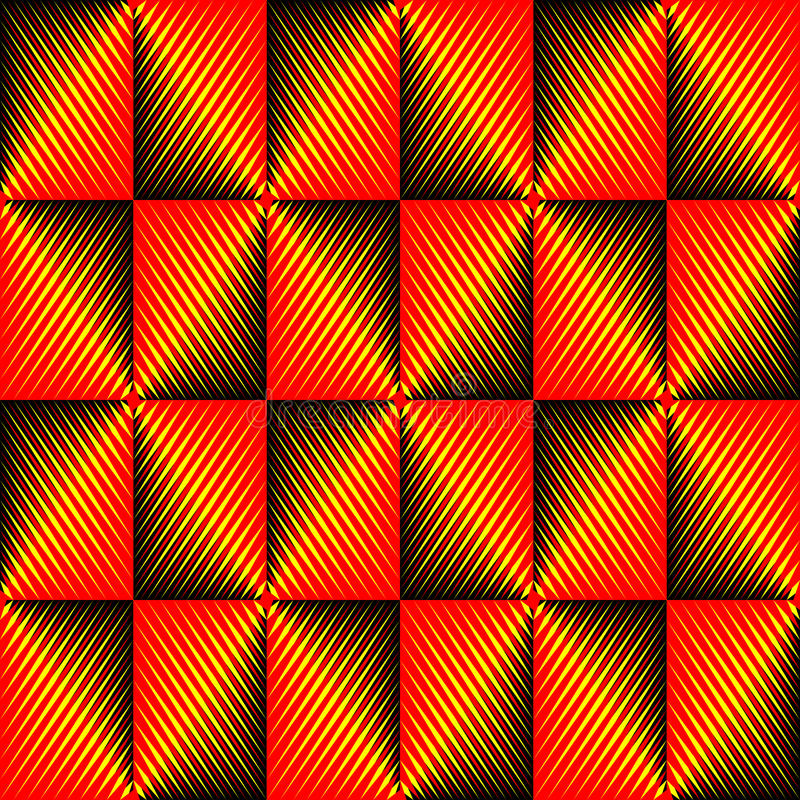 Seamless Rhombus Background. Vector Red and Yellow Pattern vector illustration
