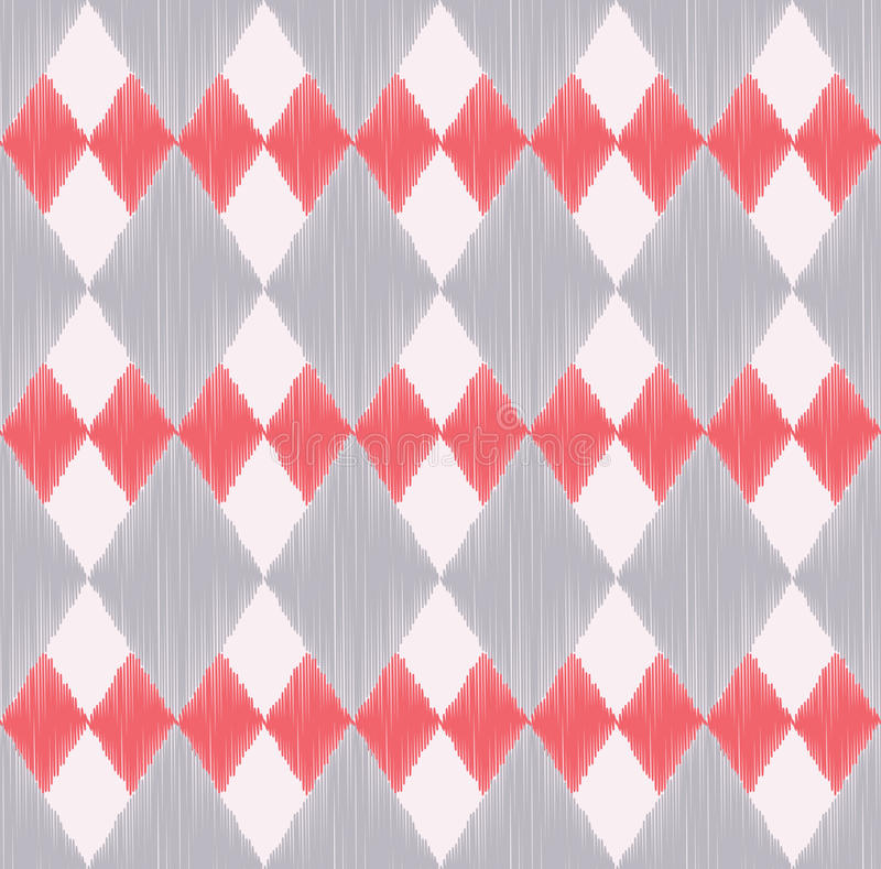 Seamless rhombus tiles geometric pattern royalty free illustration