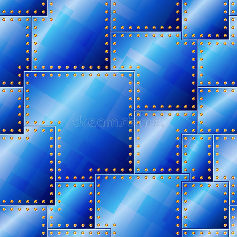 Download Seamless Riveted Blue Plate Pattern Stock Vector - Illustration: 22915880