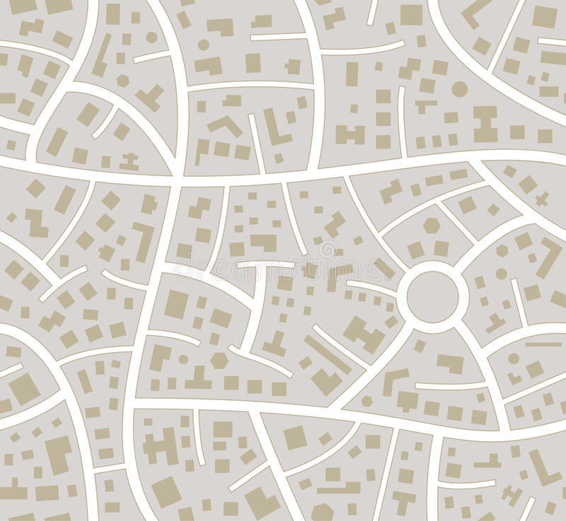 vector seamless road city map stock illustration