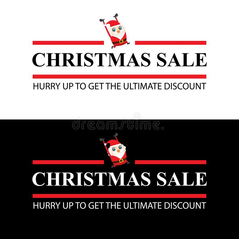 Christmas sale card ads. This is Christmas sale card ads design. Vector file royalty free illustration