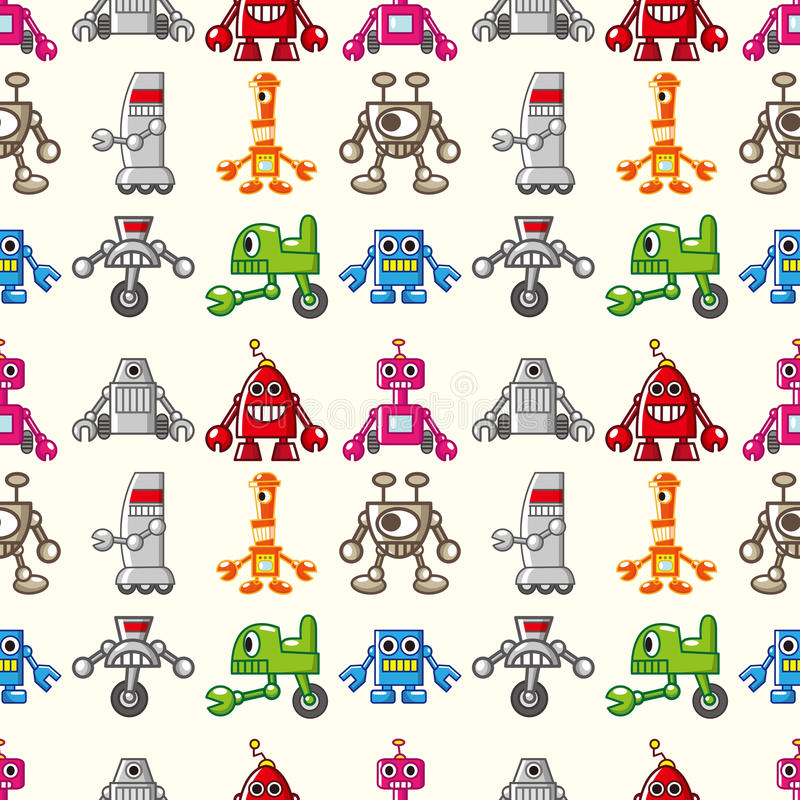 Download Seamless Robot pattern stock vector. Image of painting - 27829172