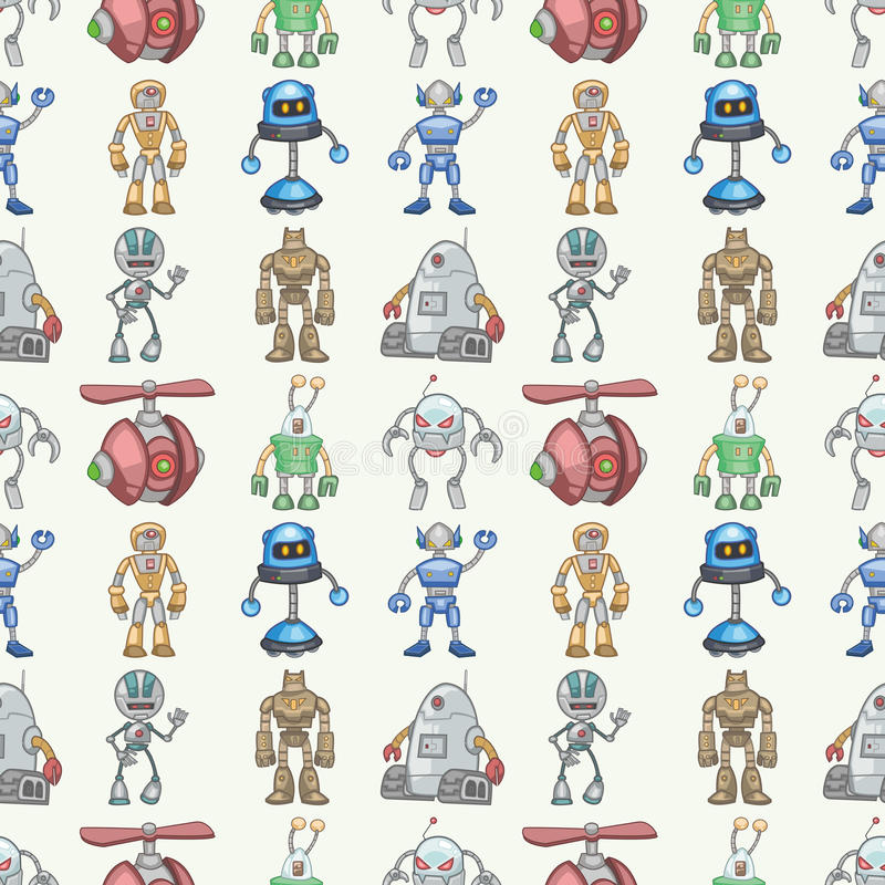 Download Seamless Robot pattern stock vector. Image of draw, color - 28102319