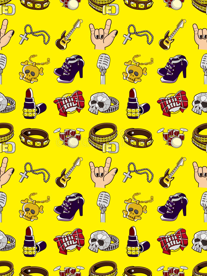 Download Seamless Rock Music Pattern Stock Vector - Image: 28023568