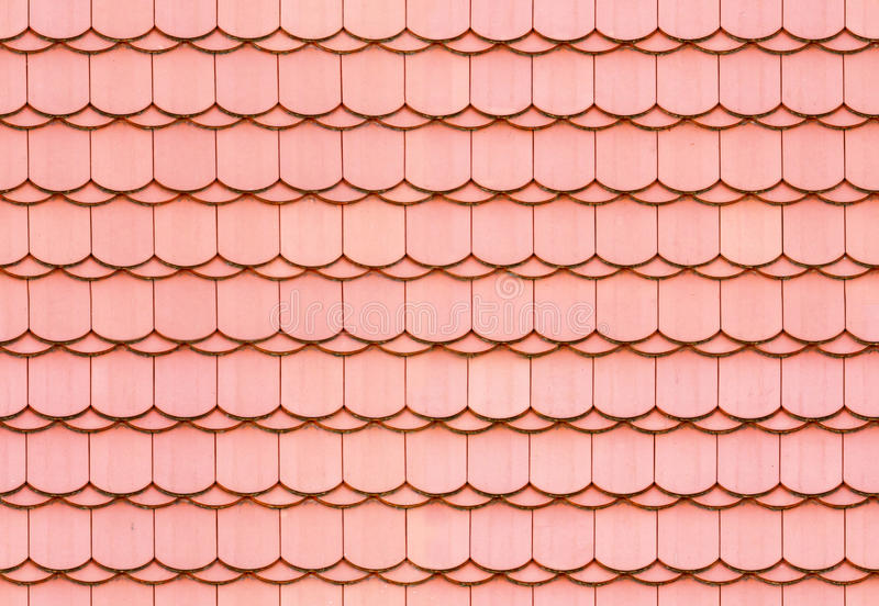 Seamless roof tile texture. Seamless red roof tile texture background royalty free stock images
