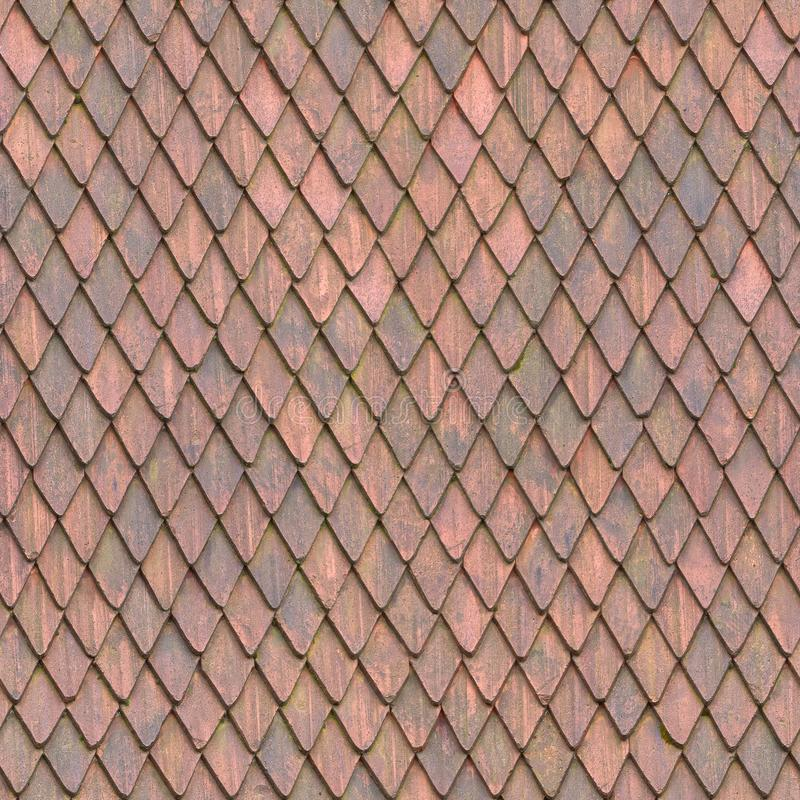 Seamless Roof Tile Texture Square 4K stock photo