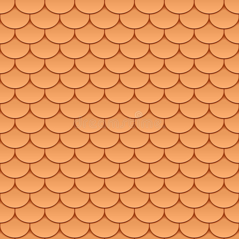 Download Seamless roof tiles stock vector. Image of background - 21901628