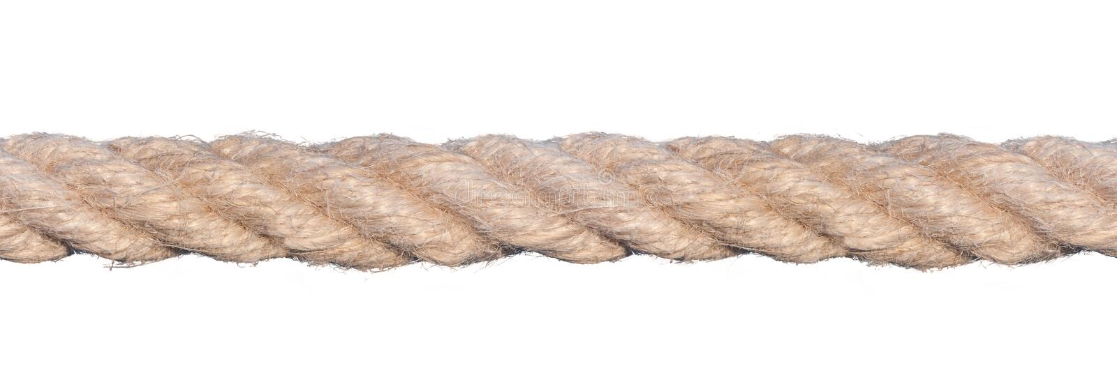 Seamless Rope. Isolated and seamless rope on white background. PNG format with transparent background is available as additional format