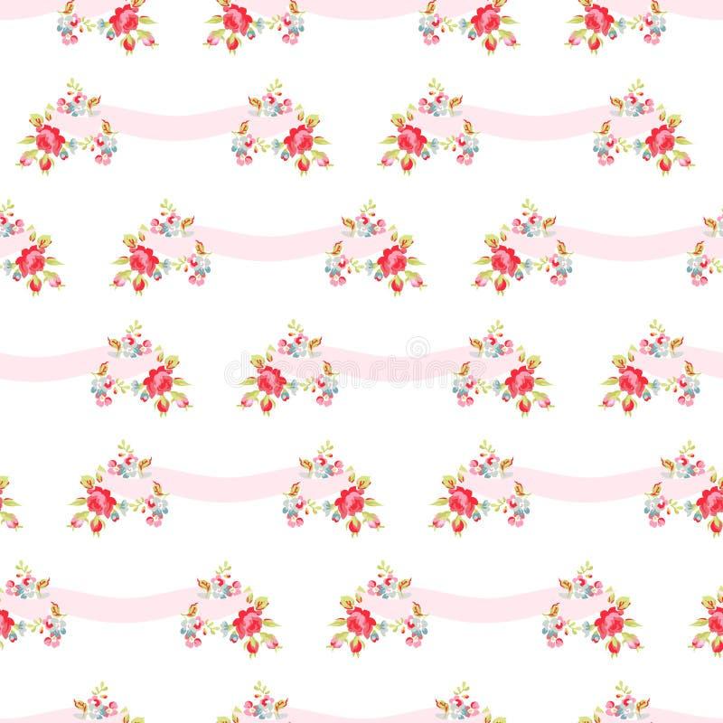 seamless rosa ro för modell stock illustrationer