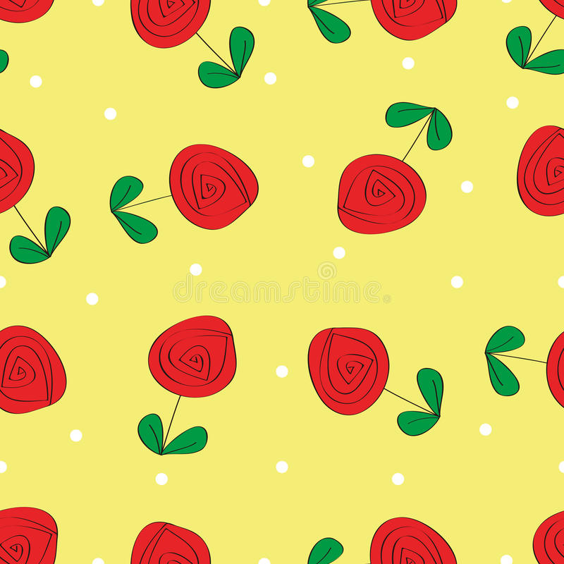Download Seamless Rose Pattern Background Stock Illustration - Illustration: 28289750
