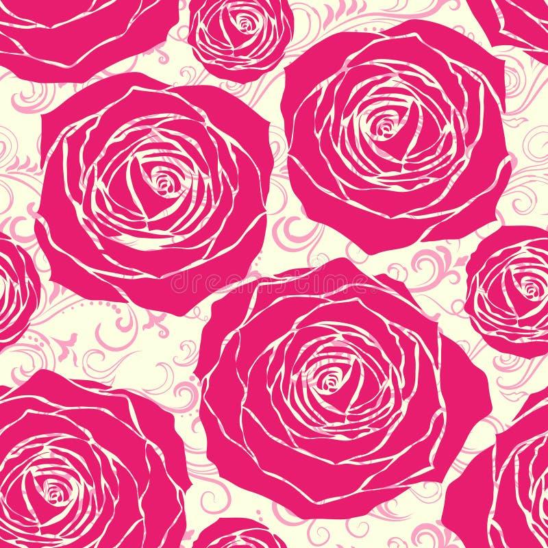 Seamless roses pattern royalty free illustration