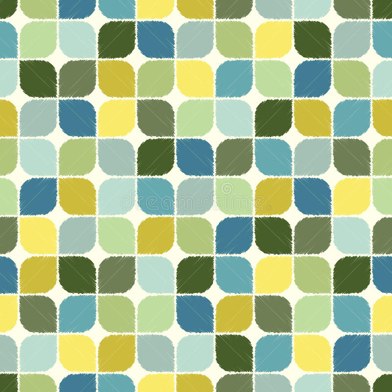Seamless round corner tiles pattern royalty free illustration