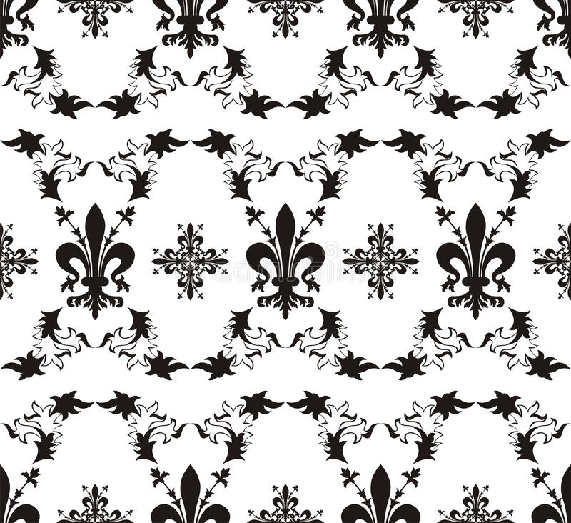 Download Seamless Royal Texture With Fleur-de-lis Stock Vector - Illustration of design, style: 18185052