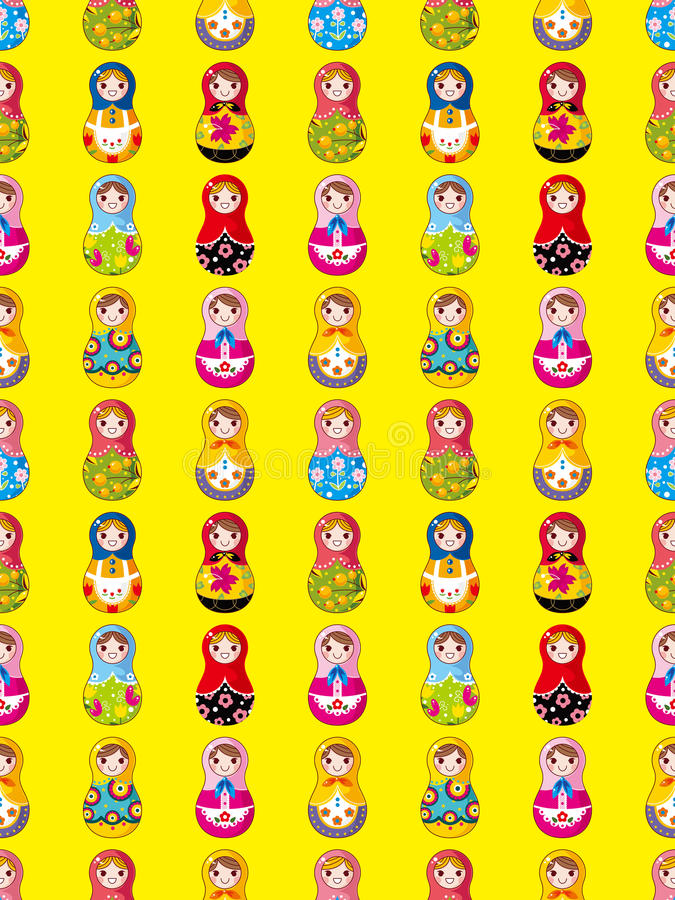 Download Seamless Russian Doll Pattern Royalty Free Stock Photo - Image: 28259425