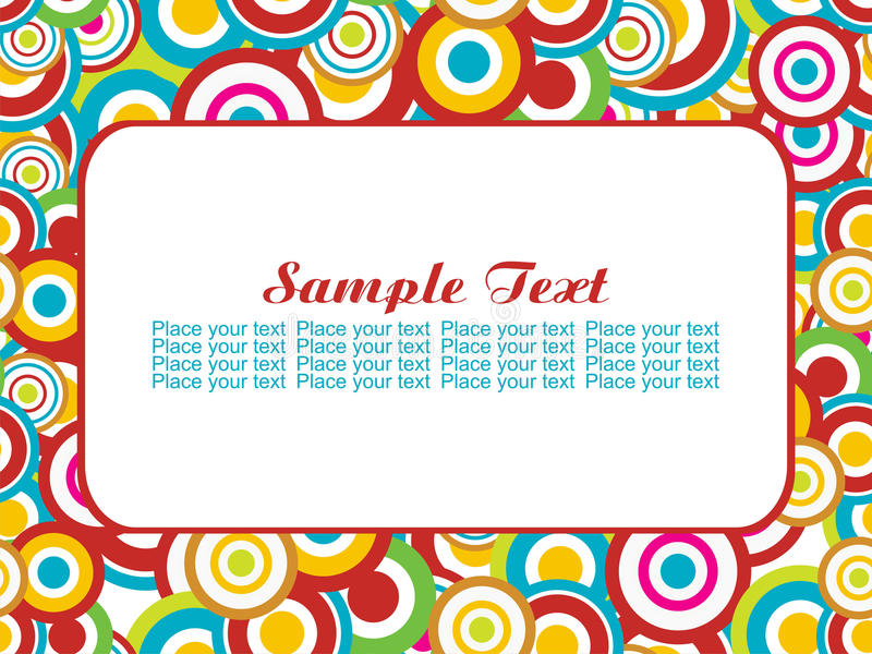 Seamless with sample text illustration royalty free stock images