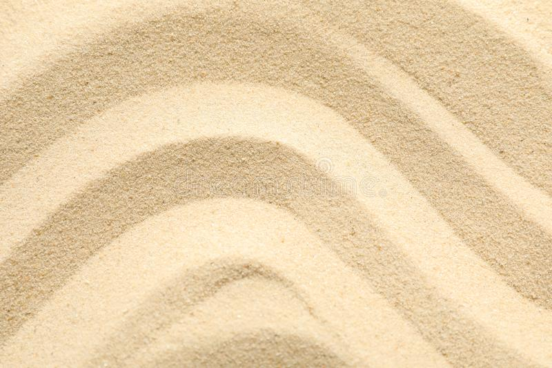 Seamless sand on a whole background, space for text and closeup. Summer vacation. Backdrop royalty free stock image