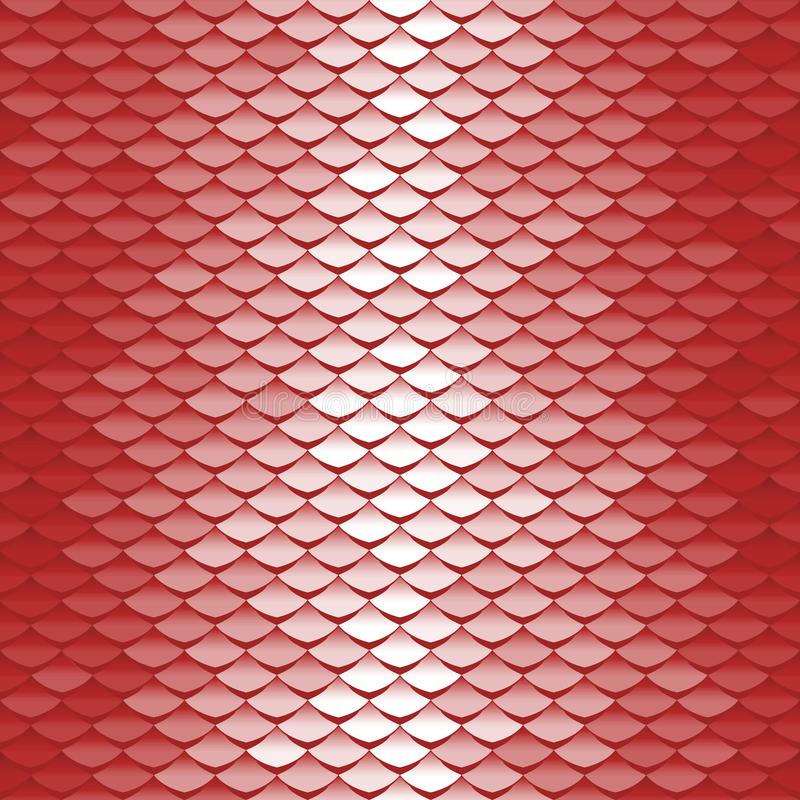 Seamless scale pattern. Abstract roof tiles royalty free illustration