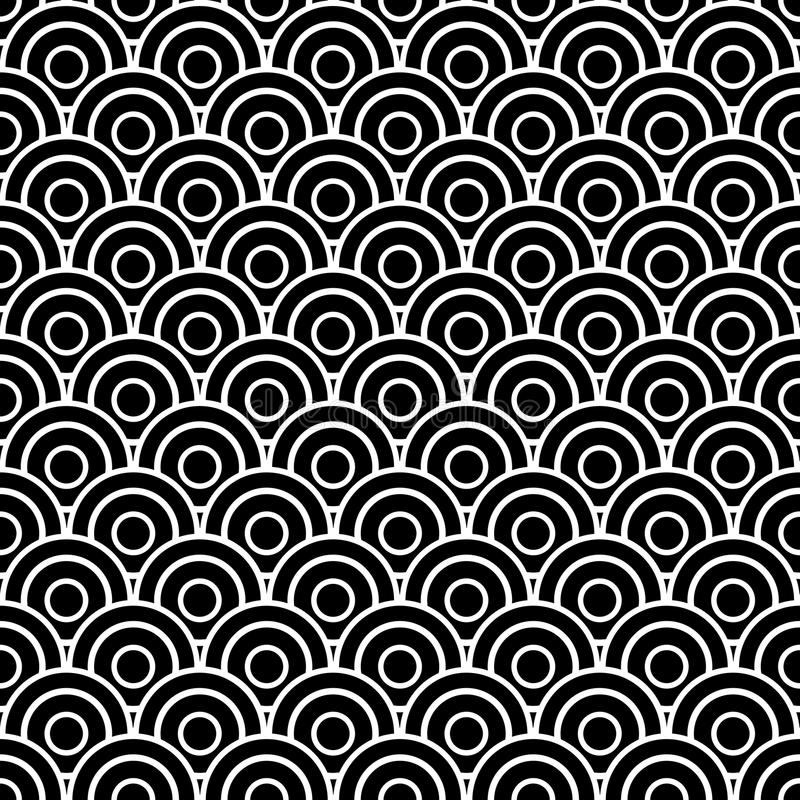 Seamless scaled circles