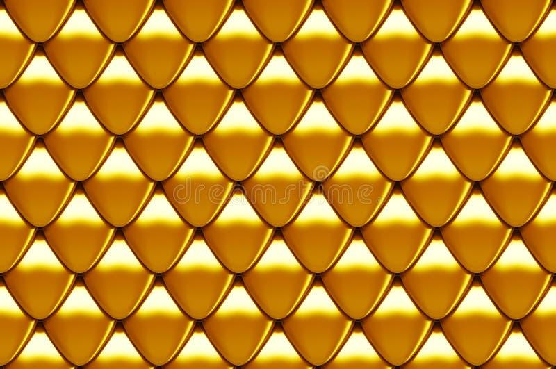 Seamless scales texture stock illustration
